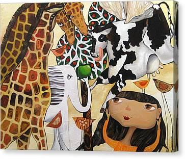 When Giraffes Were Big Canvas Print by Yelena Revis