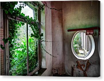 When Nature Takes Over - Urban Exploration Canvas Print by Dirk Ercken
