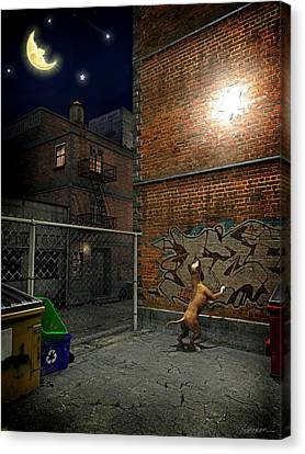 When Stars Fall In The City Canvas Print by Cynthia Decker