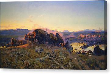 When The Land Belonged To God Canvas Print by Charles Russell