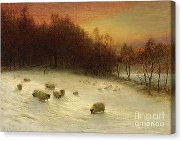 When The West With Evening Glows Canvas Print by Celestial Images