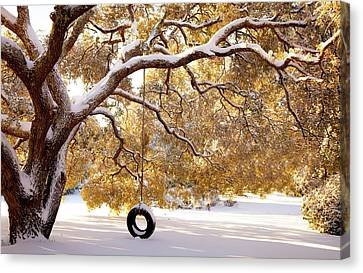 When Winter Blooms Canvas Print by Karen Wiles
