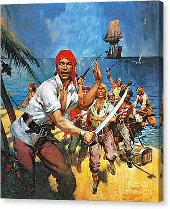 Where Once Buccaneers Reigned Canvas Print by James Edwin McConnell