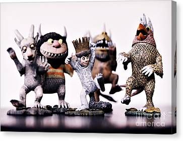 Where The Wild Things Are Canvas Print by HD Connelly