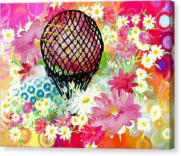 Whimsical Musing High In The Air Canvas Print by Georgiana Romanovna