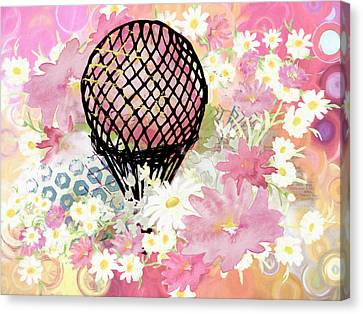 Whimsical Musing High In The Air Pink Canvas Print by Georgiana Romanovna