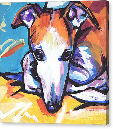 Whippet Love Canvas Print by Lea S