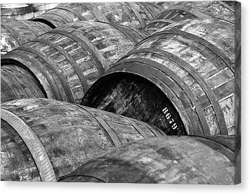 Whisky Barrels Canvas Print by (C)Andrew Hounslea