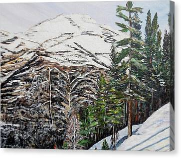 Whispering Pines Canvas Print by Marilyn  McNish
