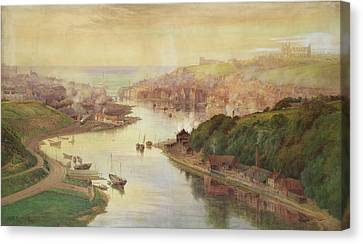 Whitby From Larpool Canvas Print by John Sowden