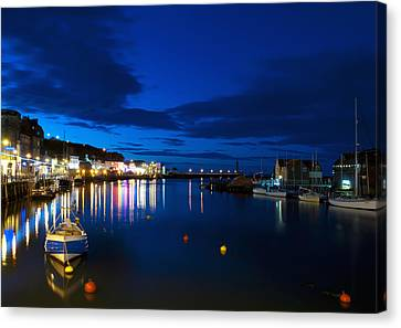 Whitby Lights Canvas Print by Svetlana Sewell