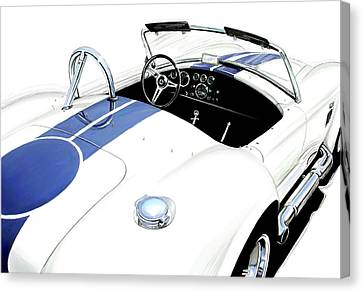 White Ac Cobra Canvas Print by David Kyte