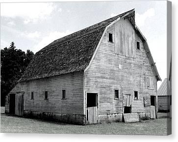 White Barn Canvas Print by Julie Hamilton