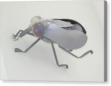 White Fly Canvas Print by Michael Jude Russo