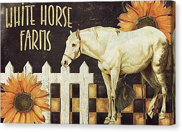 White Horse Farms Vermont Canvas Print by Mindy Sommers