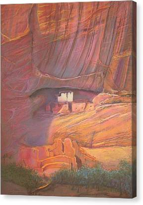 White House Rock  Home Of He Anasazi He Anasazi Canvas Print by Pamela Mccabe