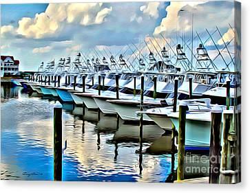White Marlin Open Canvas Print by Carey Chen