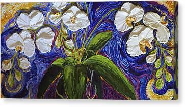 White Orchid Canvas Print by Paris Wyatt Llanso