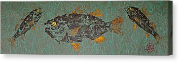 White  Perch With Yellow Perch Canvas Print by Jeffrey Canha