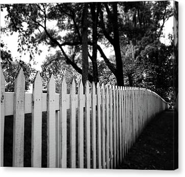 White Picket Fence- By Linda Woods Canvas Print by Linda Woods