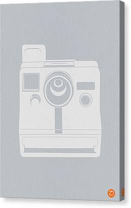 White Polaroid Camera Canvas Print by Naxart Studio