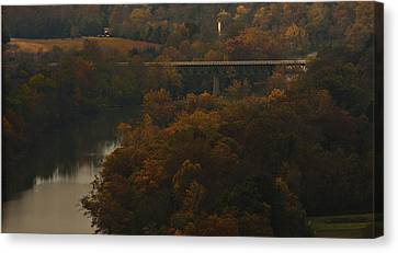 White River Foliage Canvas Print by Jonas Wingfield
