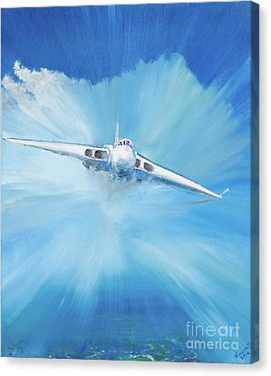 White Vulcan Canvas Print by Vincent Alexander Booth