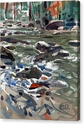 White Water Canvas Print by Donald Maier