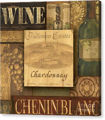 White Wine Collage Canvas Print by Grace Pullen