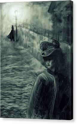 Whitechapel By Gaslight Canvas Print by Philip Harvey