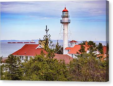Whitefish Point Light Canvas Print by Robert Michaud