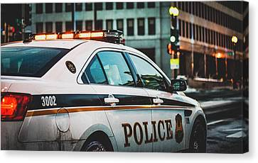 Whitehouse Police Car Canvas Print by Mountain Dreams