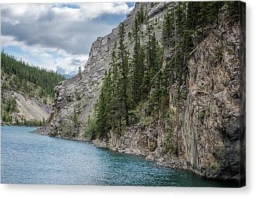 Whitemans Pond Canmore Alberta Canvas Print by Joan Carroll