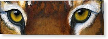 Whos Watching Who   Tiger Canvas Print by Darlene Green