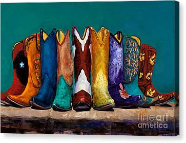 Why Real Men Want To Be Cowboys 2 Canvas Print by Frances Marino