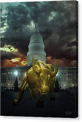 Why Washington Angers Us? Canvas Print by IM Spadecaller