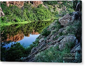 Wichita Mountain River Canvas Print by Tamyra Ayles