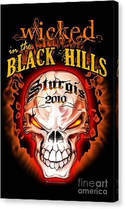 Wicked In The Black Hills - Sturgis 2010 Canvas Print by Michael Spano
