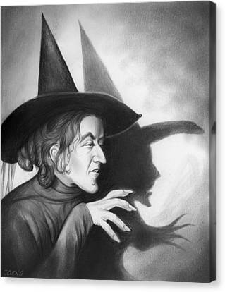 Wicked Witch Of The West Canvas Print by Greg Joens