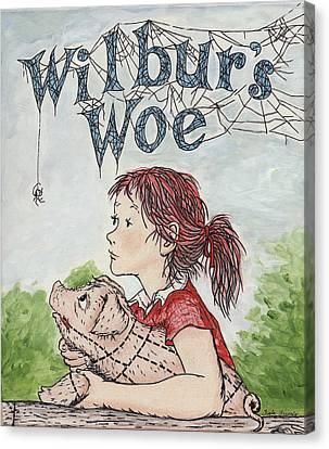 Wilbur's Woe Canvas Print by Twyla Francois