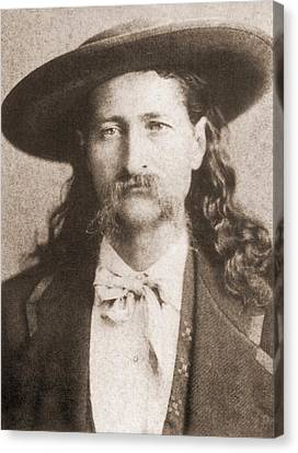 Wild Bill Hickok Was A Celebrated Canvas Print by Everett