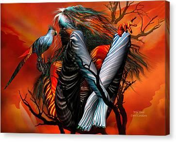 Wild Birds Canvas Print by Carol Cavalaris