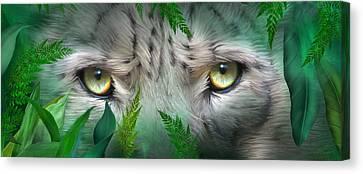 Wild Eyes - Snow Leopard Canvas Print by Carol Cavalaris