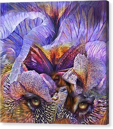 Wild Goddess - Tigress Canvas Print by Carol Cavalaris