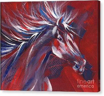 Wild Horse Bust Canvas Print by Summer Celeste