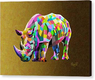 Wild Rainbow Canvas Print by Anthony Mwangi