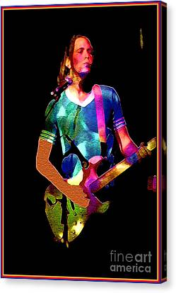 Wild Rock 'n Roll Canvas Print by Linda  Parker