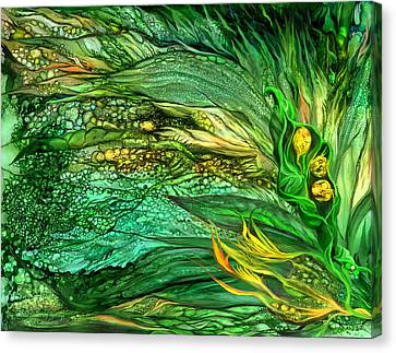 Wild Seeds Of Spring Canvas Print by Carol Cavalaris