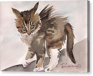 Wild Thing Canvas Print by Yuliya Podlinnova