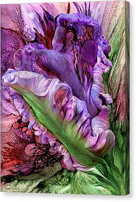Wild Tulip Canvas Print by Carol Cavalaris